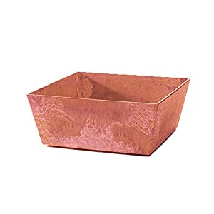 Novelty Mfg Co 36105 Low Square Ella Planter, Terra, 10-Inch (Discontinued by Manufacturer)