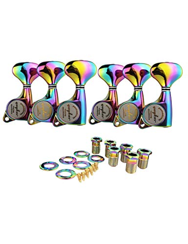 GUYKER Gold Tuners Electric Guitar Machine Heads Pegs Tuners Chameleon Rainbow Color