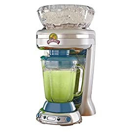 Margaritaville Key West Frozen Concoction Maker with Easy Pour Jar and XL Ice Reservoir 5 Makes up to 2.5 pitchers of frozen concoctions thanks to its extra-large ice reservoir Creates premium shaved ice rather than crushed ice like a blender, for an authentic frozen concoction experience. Key West Frozen Concoction Maker with 36-ounce blending jar for creating fun, tropics-inspired party drinks Includes 4 pre-programmed drink settings, plus automatic shave 'n blend cycle and manual blend only/shave only cycles