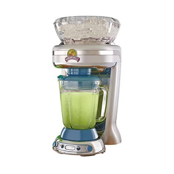 Margaritaville Key West Frozen Concoction Maker with Easy Pour Jar and XL Ice Reservoir 1 Makes up to 2.5 pitchers of frozen concoctions thanks to its extra-large ice reservoir Creates premium shaved ice rather than crushed ice like a blender, for an authentic frozen concoction experience. Key West Frozen Concoction Maker with 36-ounce blending jar for creating fun, tropics-inspired party drinks Includes 4 pre-programmed drink settings, plus automatic shave 'n blend cycle and manual blend only/shave only cycles