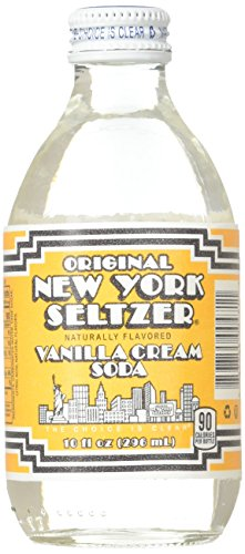 Original New York Seltzer Vanilla Cream Soda, 10-Ounce Glass Bottles (Pack of 12)