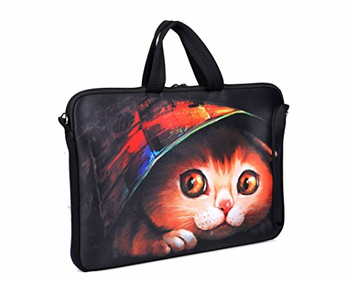 Afibi 11/13 Inch Laptop Sleeves/Briefcase Laptop Shoulder Bag Neoprene Messenger Case (15 Inch)