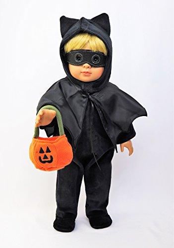 [Black Velvet Bat Costume | Fits 18