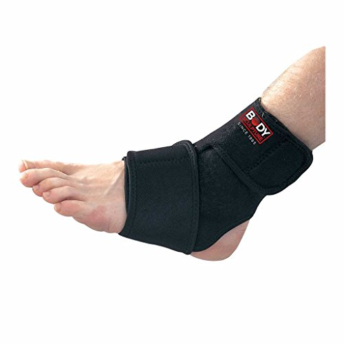 Body Sculpture Neoprene Ankle Support with 2 Compression Wraps, Moisture Absorption & Sweat-free