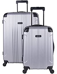 "Out of Bounds Abs 4-Wheel Luggage 2-Piece Set 20"" and 28"" Sizes, Light Silver"