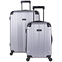 """Kenneth Cole Reaction Out Of Bounds 2-Piece Lightweight Hardside 4-Wheel Spinner Luggage Set: 20"""" Carry-On & 28"""" Checked Suitcase"""
