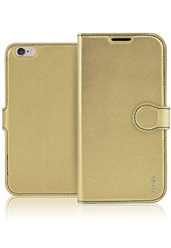 Fonex BOOKID1005GO 4.7 Folio Oro funda para teléfono móvil - Fundas para teléfonos móviles (Folio, Apple, iPhone 6/6S, 11,9 cm (4.7), Oro)