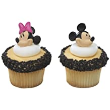 Decopac Mickey Mouse And Minnie Mouse Cupcake Rings Toppers