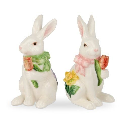 Garden Terrace Bunny Salt & Pepper Shakers
