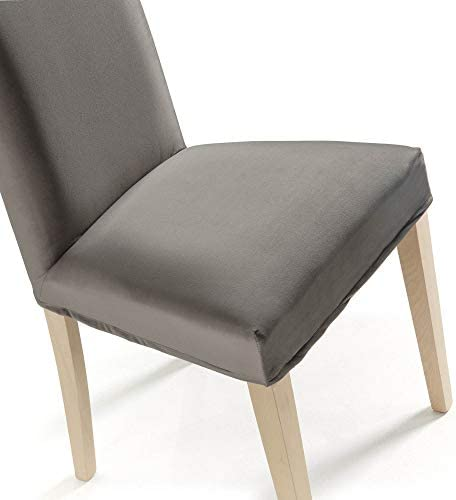 Kave Home Freda Housse de chaise en velours Gris