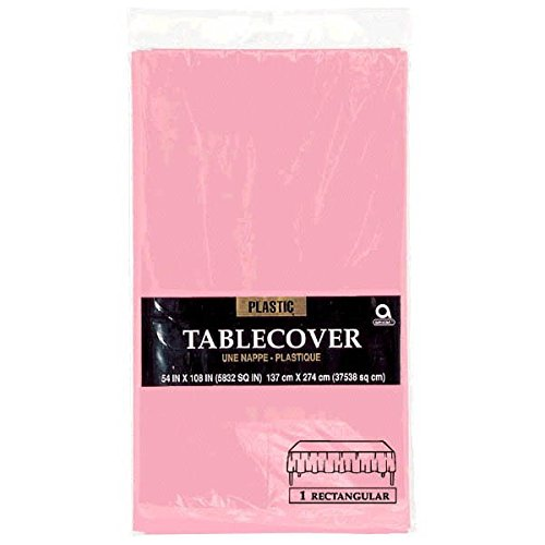 Amscan rectangular Plastic Table Cover , Party Tableware,  New Pink