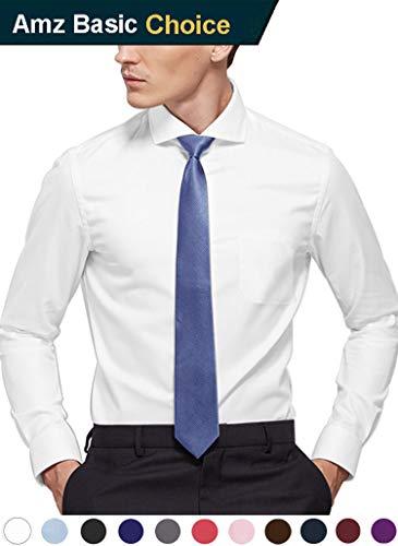 diig Slim Fit Mens Dress Shirts for Fashion Men, White Black Blue Pink Gray, 2 XL