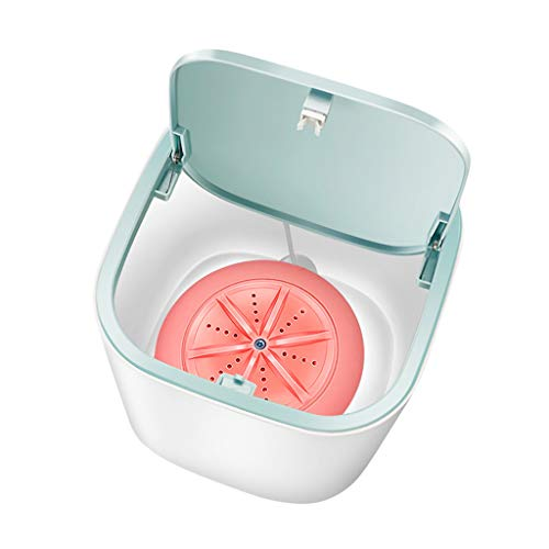 2020 New Upgraded Portable Washing Machine, Folding Fully automatic Laundry Machine, Turbine Washer, USB Cable, Low Noise, Mini Washing Machine for Camping, Dorms, Apartments,Business Trips (Pink)
