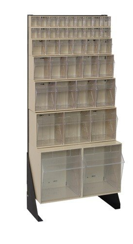 Clear Tip Out Bin Floor Storage Stands. Space Saving Bin Units Keep Small And Medium Sized Parts Organized, Sorted And Easy To Find. All Steel Systems Are Formed From Heavy (Tip Out Storage Bin)