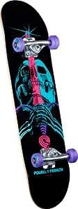 Powell-Peralta Blacklight Skull and Sword Complete Skateboard, Black,7.93-Inch