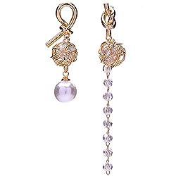 Orchid Art Acrylic Earrings for Women