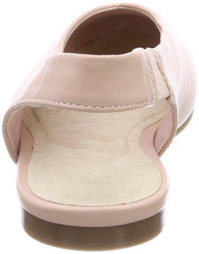 Rose Slingback Tira Bailarinas Tobillo de Bianco Rosa Ballerina Mujer 46 con para vdFxTq