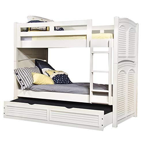 (American Woodcrafters Cottage Traditions Twin Bunk Bed with Trundle)