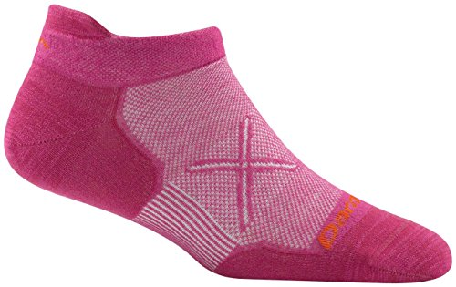 Darn Tough Coolmax Vertex No Show Tab Ultralight Cushion Socks - Women's Clover Medium (Womens Coolmax Athletic Socks)