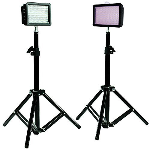 Julius-Studio-160LED-Camera-Light-Kit-including-2Ultra-High-Power-160-LED-Video-Light-Panel-Digital-Camera-DSLR-Camcorder-LED-Video-Light-228-Tall-Photography-Mini-Light-Stand-JGG2287