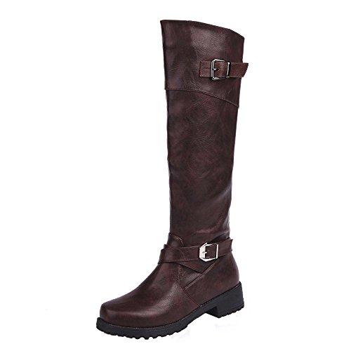 Piatta Stivali Scarpe Mid Boots Donna Cavaliere Pelle Marrone Caviglia Boots Beauty Invernali Stivali Stivaletto Alla Autunno Top BeautyTop qw5xPn61Y