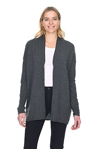 (State Cashmere Women's 100% Pure Cashmere Light Open Front Cardigan)