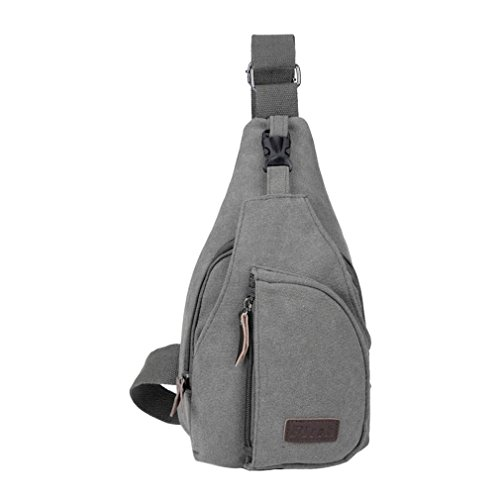 Secret paradise Hombre Satchel de lona pequeña bolsa de hombro bolsa de mensajero Viajes Senderismo Mochila Gris