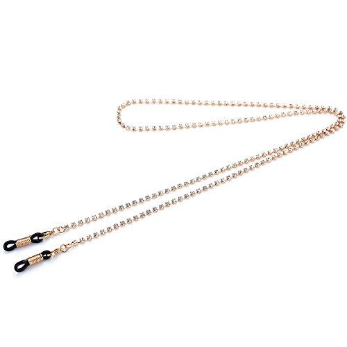 Kalevel Eyeglass Chains Holders Bling Eyeglasses Chains for Women - Eyeglasses Rhinestones With