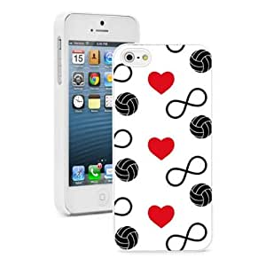 For iPhone 4 4S Hard Case Infinity Love Volleyball Hearts -01
