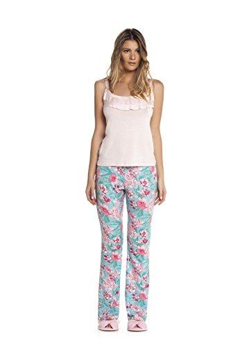 Ensemble pyjama - Top & Pantalon à fleurs - Femme