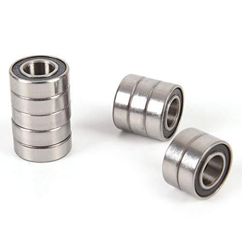 Ochoos 10PCS Metal Shielded Metric Radial Ball Bearings 688-2RS 688RS Miniature Ball Bearings Deep Groove Ball Bearing Rubber ()