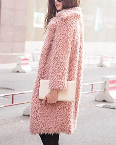 El De Fourrure Fashion Femme Manteau Longues xX6nqqS