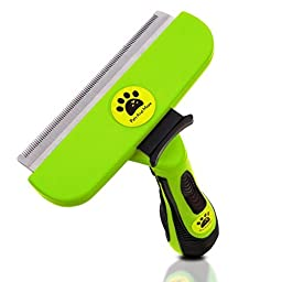 Pets and more Grooming Deshedding Tool for Large Dog & Cat, Stainless Steel