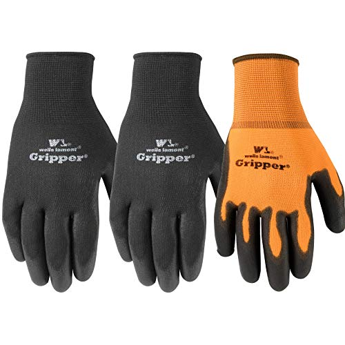 (Wells Lamont Ultimate Gripper Work Gloves, PU-Coated, 3-Pack, Large (559LF))