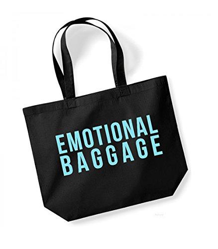 Unisex Tote Cotton Baggage Print Black Emotional Bag blue Canvas Slogan Kelham wtq5SRXn