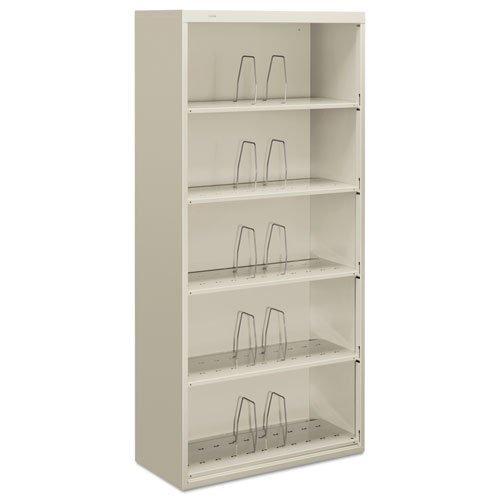HON J625CNQ - 600 Series Jumbo Open File, 5-Shelf, Steel, Legal, 36w x 16-3/4d x 75-7/8h, Gray-HONJ625CNQ