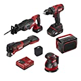 SKIL PWRCore 20 Brushless 20V 6-Tool Combo Kit, Included 2.0Ah Lithium Battery, 4.0Ah Lithium Battery and PWRJump Charger - CB7443-21