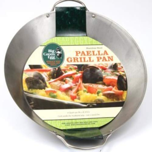 Big Green Egg Stainless Steel Stir-Fry and Paella Grill Pan For XL & Large Egg