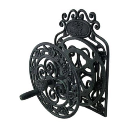 oral Verdigris Patina Wall Mounted Cast Iron Hose Reel (Cast Iron Wall)