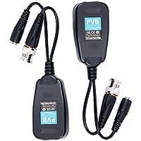 YaeTek CCTV Coax BNC Video Power Balun Transceiver to CAT5e 6 RJ45 Connector (20Pair)