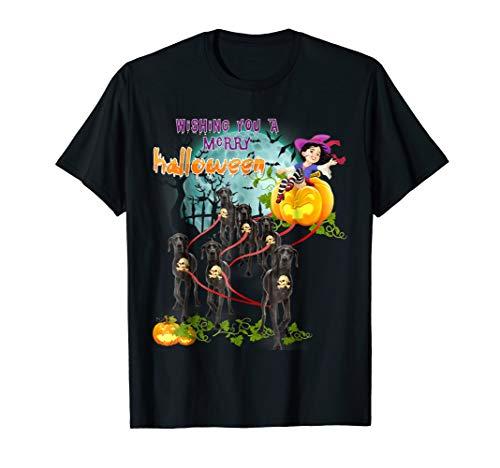 Wishing You A Merry Halloween With Great Dane T Shirt