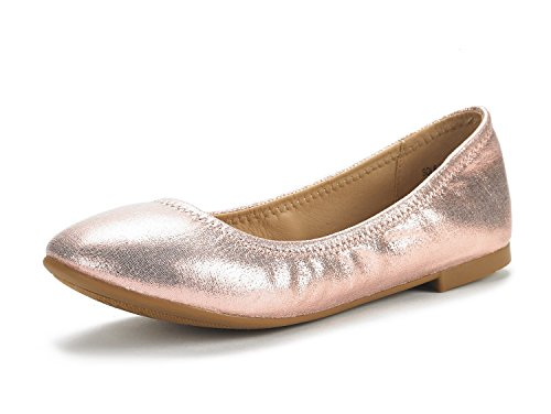 DREAM PAIRS Women's Sole Happy Champagne Ballerina Walking Flats Shoes - 8 M US