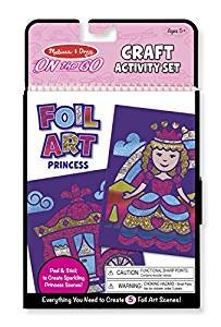 Little Princess Craft Set (Foil Art, Sequin Fashions, Stain Glass Princess) plus a FREE Gift from Little - Fashion Lf