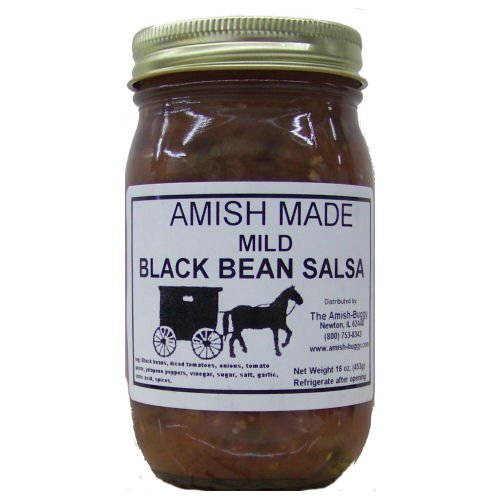- Amish Buggy Salsa, Mild Black Bean, 16 Ounce (Pack of 12)
