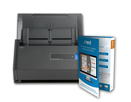 Fujitsu ScanSnap iX500 Document Scanner Powered With Neat, 1 Year Neat Premium License