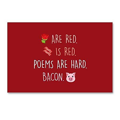 CafePress Emoji Roses Poems Bacon Postcards (Package of 8), 6