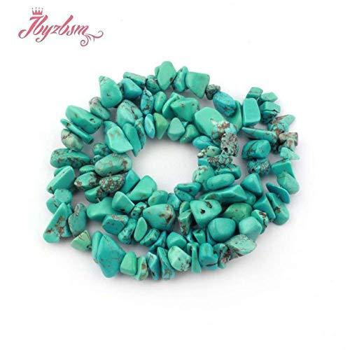 Irregular Necklace Shape Turquoise - Pukido 4-7mm Freeform Chip Natural Stone Beads Irregular Shape for DIY Necklace Bracelet Fashion Jewelry Making Making 16