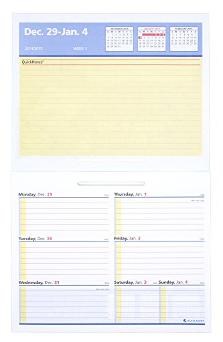 AT-A-GLANCE Flip-A-Week Desk Calendar Weekly QuickNotes Refill 2015, 7 x 5.62 Inch Page Size (SW706-50)