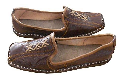 En Chaussures Fête Indien Cuir Pour Marron Creations De Traditionnel Kalra Hommes 1HfaqxX