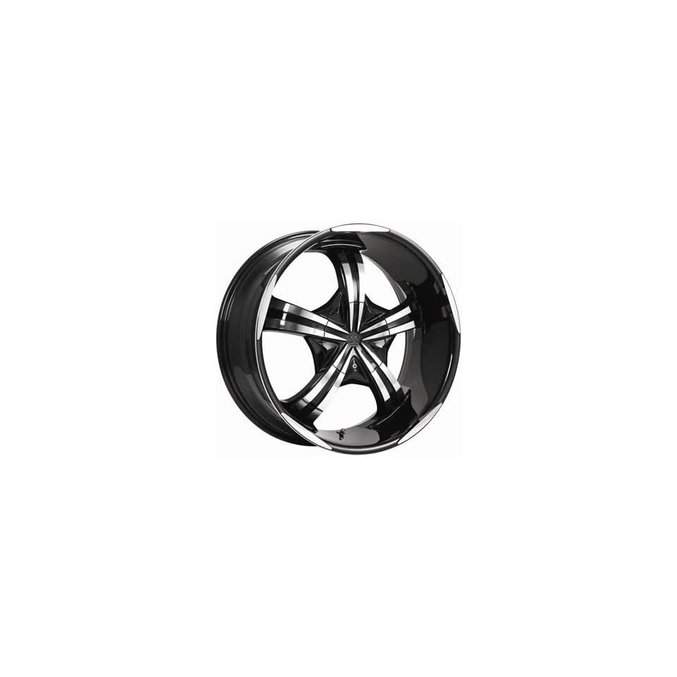 Motiv Mayhem 20x9 Chrome Black Wheel / Rim 6x5.5 & 6x135 with a 25mm Offset and a 108.00 Hub Bore. Partnumber 404CB 2906825